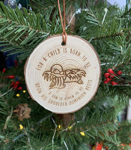 Wood Slice Isaiah 9:6 Ornament
