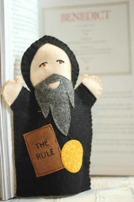 Saint Benedict 100% Wool Felt Hand Puppet Kit