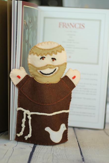 Saint Francis 100% Wool Felt Hand Puppet Kit
