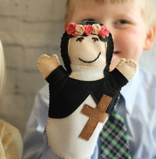 Saint Rose of Lima 100% Wool Felt Hand Puppet Kit