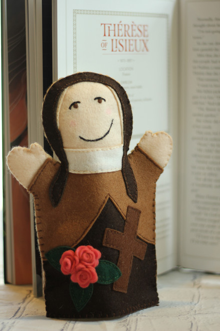 Saint Therese of Lisieux 100% Wool Felt Hand Puppet Kit