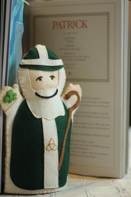 Saint Patrick 100% Wool Felt Hand Puppet Kit