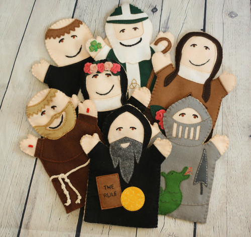 Saints Patrick, Francis, Dominic, Benedict, Therese, George, and Rose of Lima.  Each kit sold separately.