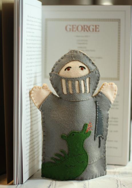 Saint George 100% Wool Felt Hand Puppet Kit