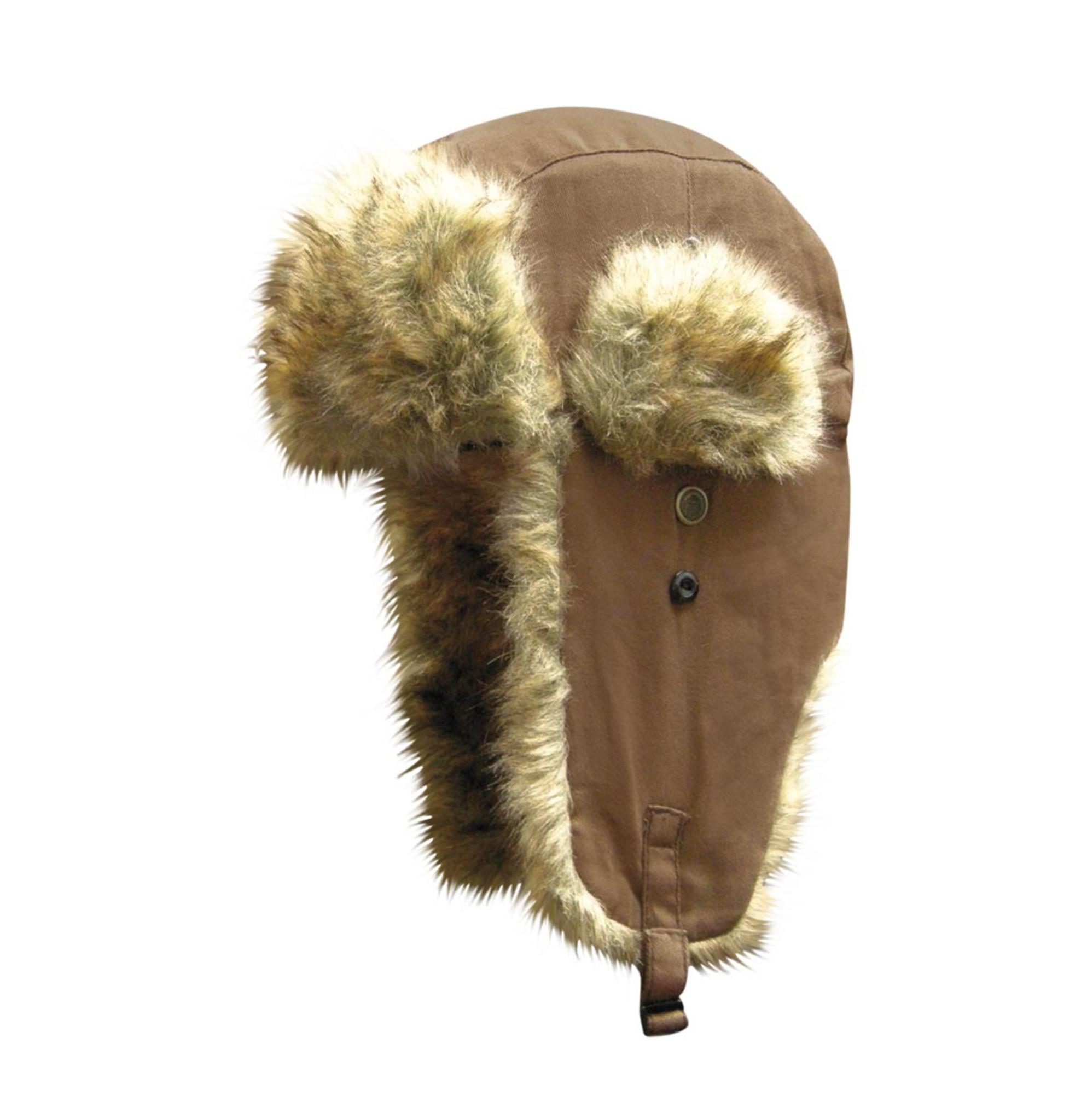 Dakota Dan Trooper Ear Flap Cap w// Faux Fur Lining Hat