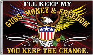 Freedom First Flag: Guns, Money & Freedom