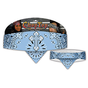 Chop Top:  Cross Paisley Lt. Blue w/Rhinestones