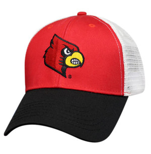 Premium Logo Mesh Back: Louisville Cardinals