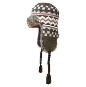 Checkered Brown Dakota Dan Hat