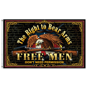 Freedom First Flag: Free Men Don't Need Permission