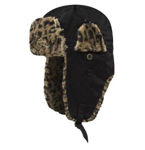 Dakota Dan Trooper Hat Black/Cheetah