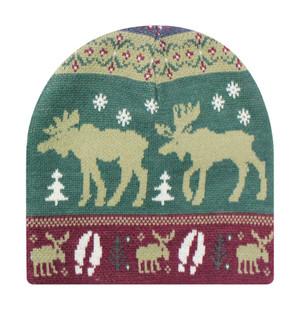 Animal Knit Beanie - Moose