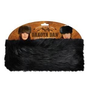 Dakota Dan Fur Headband - Black