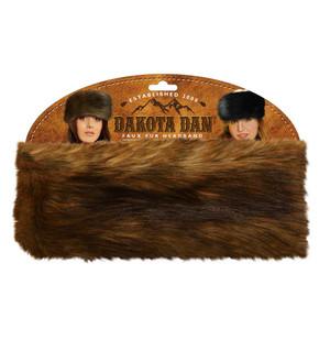 Dakota Dan Fur Headband - Red Fox