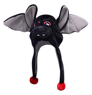 Halloween Big Eye Critter Cap: Black Bat