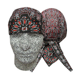 Danbanna Deluxe:  Black/Red Paisley