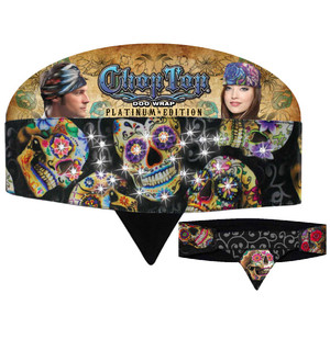 Chop Top Platinum Edition: Sugar Skull with Rhinestones