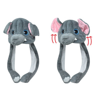 Action Big Eye Critter Cap Elephant Squeeze Me Watch Me Move Animal Hat
