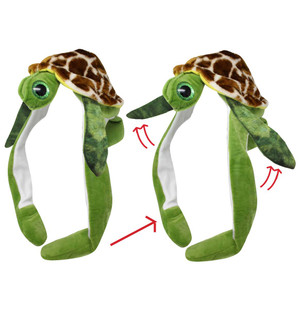 Action Big Eye Critter Cap Turtle Squeeze Me Watch Me Move Animal Hat