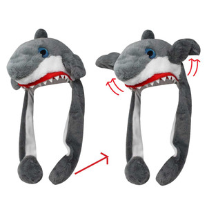 Action Big Eye Critter Cap Shark Squeeze Me Watch Me Move Animal Hat