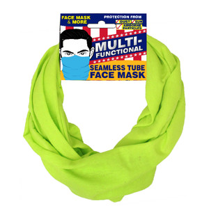 Patriotic Multifunctional Seamless Face Mask Safety Yellow