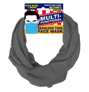 Patriotic Multifunctional Seamless Face Mask Gray