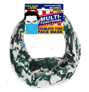 Patriotic Multifunctional Seamless Face Mask Digital Camo