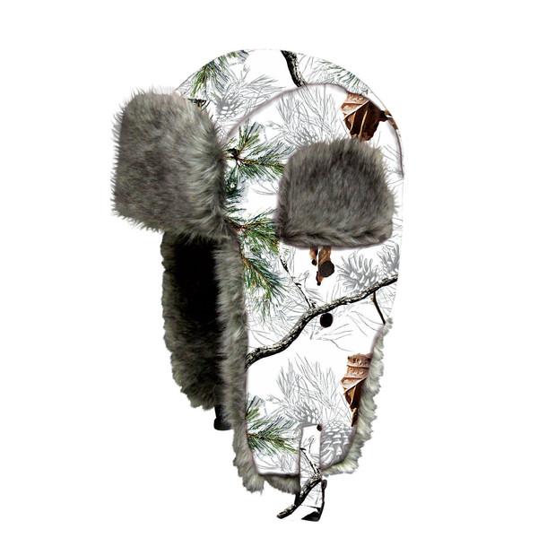 Dakota Dan Trooper Hat Hunting Camp Camo Snow
