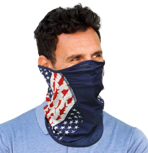 Reel Angler Iconic Flag Face Mask