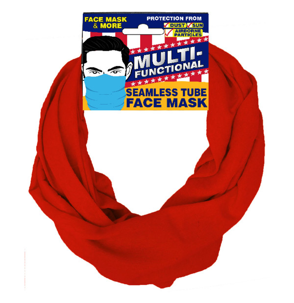 Patriotic Multifunctional Seamless Face Mask Red