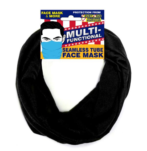 Patriotic Multifunctional Seamless Face Mask Black