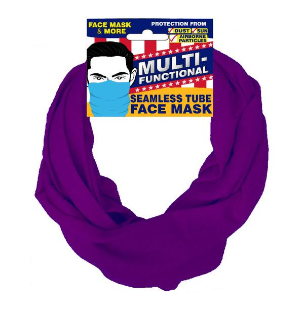 Patriotic Multifunctional Seamless Face Mask Purple
