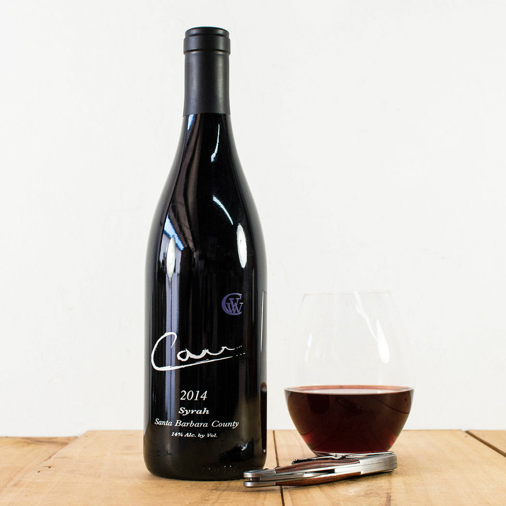 Carr Syrah Bottle.