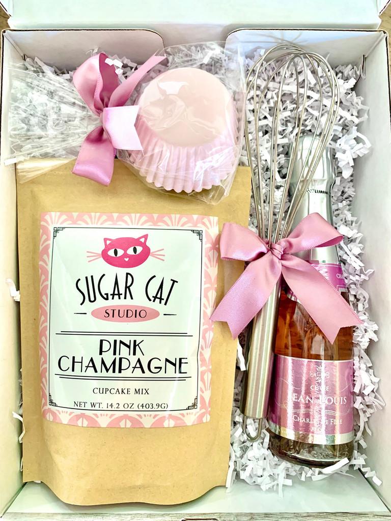 Pink Champagne Cupcake Baking Box