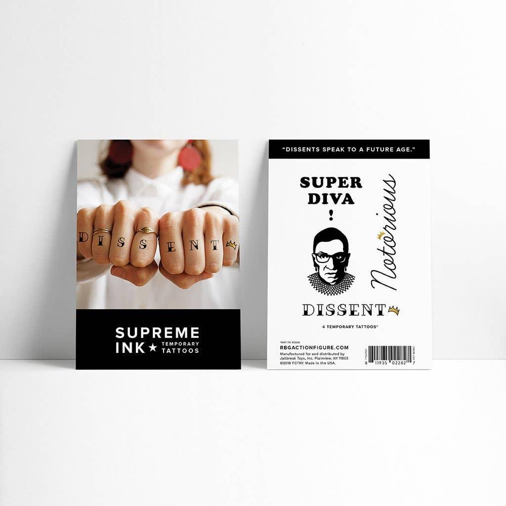 RBG Supreme Ink Temporary Tattoos