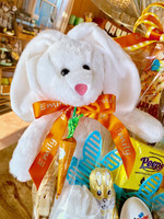 Select personalized ribbon for just $4.95, and we will add your child's name to the plush bunny and the basket bow.