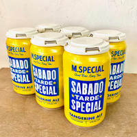 M.Special Sabado Tarde Tangerine Ale Six Pack Cans.