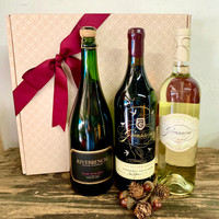 Grassini & Riverbench Three Bottle Celebration Basket