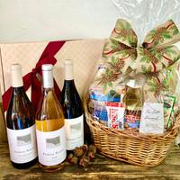 Red, White & Rose Three Bottle Celebration Basket