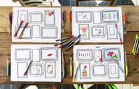 Doodle Frame Placemat Set of Four