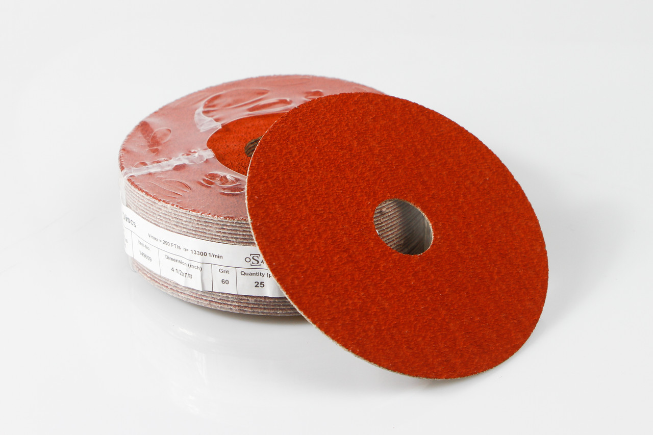 "5/"" Ceramic Resin Fiber Disc 60 Grit 5 inch Grinding /& Sanding Discs 50 Pack"