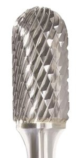 SC-1 Cylindrical - Ball Nosed Double Cut Carbide Burr