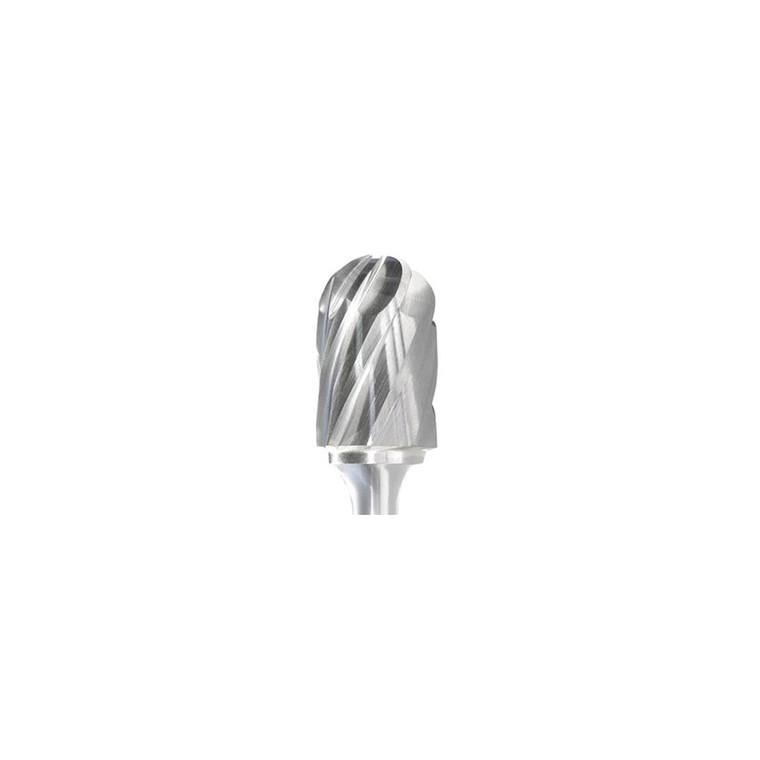 SC-3NF Cylindrical - Ball Nosed Aluma Cut Carbide Burr