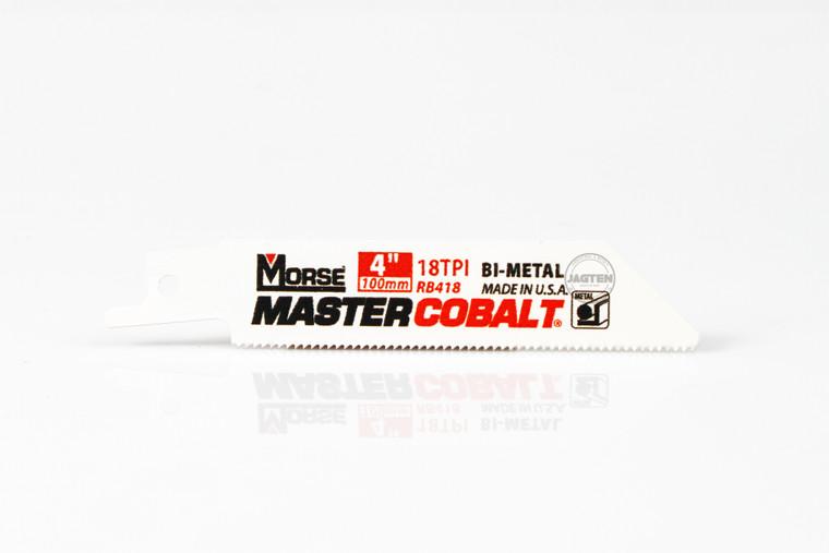 """4"""" - 18 TPI Master Cobalt Metal Reciprocating Saw Blades - 5 Pack"""