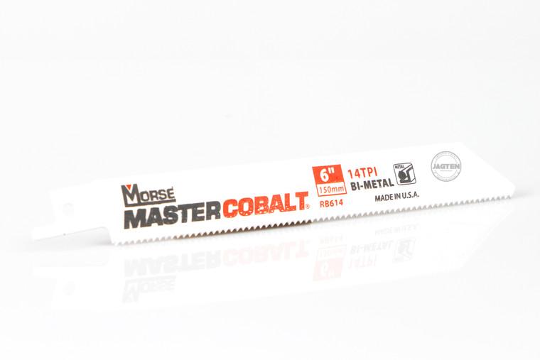 """6"""" - 18 TPI Master Cobalt Metal Reciprocating Saw Blades - 5 Pack"""