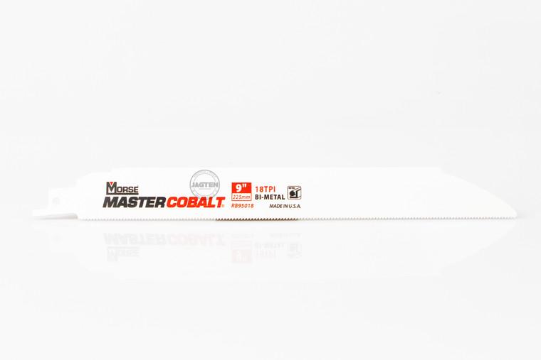 """9"""" - 18 TPI Master Cobalt Metal Reciprocating Saw Blades - 5 Pack"""