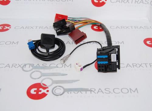 AUDI RNS-E ISO adapter + Diversity antenna + GPS antenna + radio removal keys