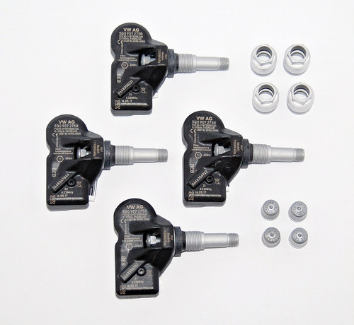 NEW OEM AUDI VW RDKS TMPS TYRE PRESSURE 4 PCS SENSOR KIT 433Mhz 5Q0907275B