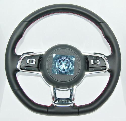 NEW OEM VW GOLF 14 15 16 COMPLETE GTI MULTIFUNCTION STEERING WHEEL 5G0419091 BS