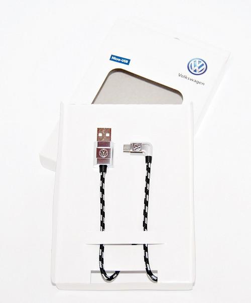 NEW GENUINE VW USB - A TO MICRO - USB PREMIUM CABLE 30cm 000051446R App-Connec GoogleAuto
